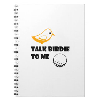Funny Golf Gifts  Talk Birdie To Me Cool Spiral Notebook