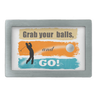 Funny Golf Grab Your Balls ID466 Belt Buckle