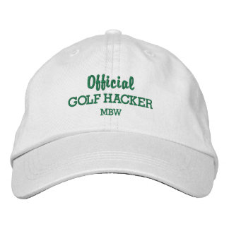 Funny Golf Hacker Custom Monogram Embroidered Embroidered Hat