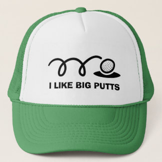 Funny golf hat | i like big putts