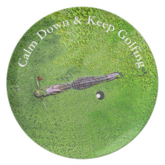 FUNNY GOLF HOME GIFT, KEEP CALM & KEEP GOLFING PLATE