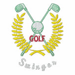 Funny Golf Logo Swinger Embroidered Polo