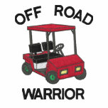 Funny Golf Off Road Warrior Embroidered Polo