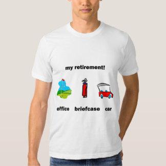 Funny golf retirement tshirt