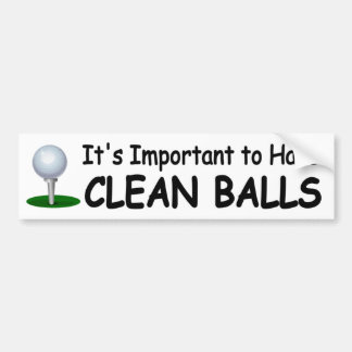 funny golf sticker Important to have clean balls