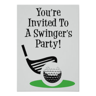 Funny Golf Swinger Party Invite