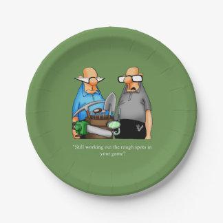 Funny Golf Themed Birthday Plates