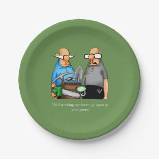 Funny Golf Themed Birthday Plates