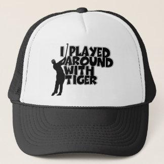 Funny golfing trucker hat