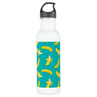 Funny Gone Bananas illustrated pattern 710 Ml Water Bottle