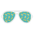 Funny Gone Bananas illustrated pattern Aviator Sunglasses