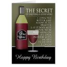 Funny Good Wine Birthday Card