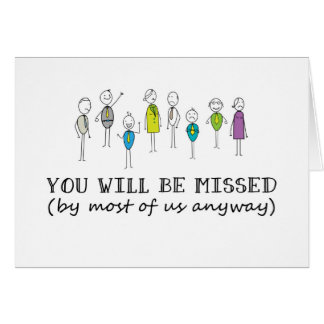 Funny Goodbye Card, Rude Farewell Card, Funny Card