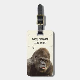 Funny Gorilla custom luggage tag