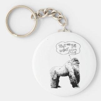 Funny Gorilla Keychain