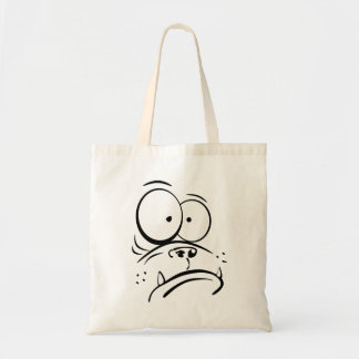 Funny gorilla looking confused cartoon image canvas bag