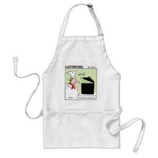 Funny Gourmet Chef Laftovers Cartoon Standard Apron