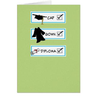 Funny graduation card: Big Brain Card