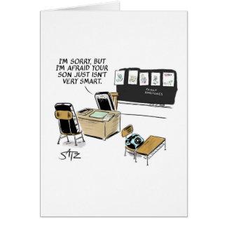 Funny graduation cartoon card