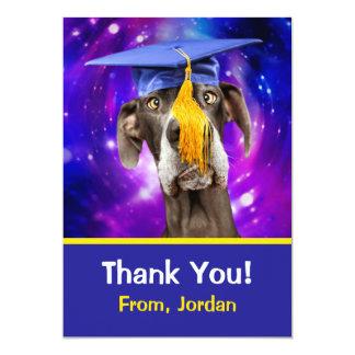 Funny Graduation Dog Wearing Hat Card