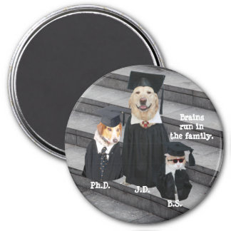 Funny Graduation Dogs & Cat Magnet