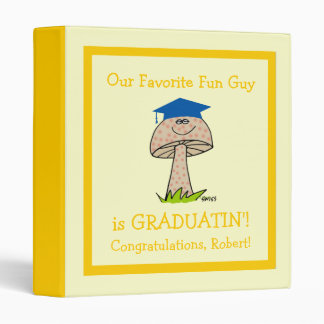 Funny Graduation Party Scrapbook for Fun Guy 3 Ring Binders