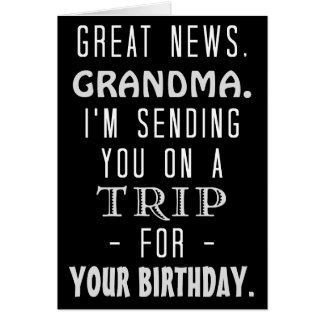 Funny Grandma Birthday Trip Retro Hippie Humor Card