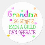 Funny Grandma Gift Stickers