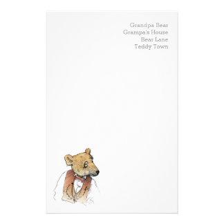 Funny Grandpa Bear Custom Stationery