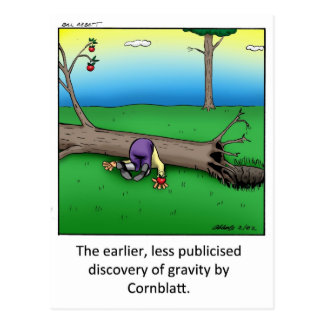 Funny Gravity Cartoon Art Gift! Postcard