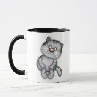 Funny gray cat mug
