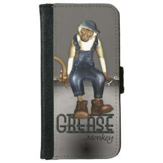 Funny Grease Monkey Mechanic Phone Wallet Cases