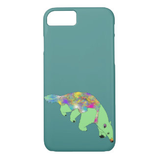 Funny Green Anteater colourful Animal Art Design iPhone 8/7 Case