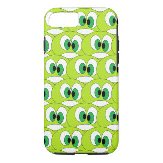 Funny Green Cartoon Faces All Over Pattern Cute iPhone 8/7 Case