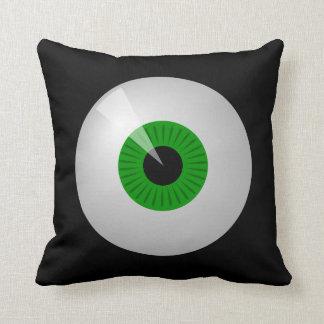 Funny Green Cartoon Monster Eye Eyball Pillow