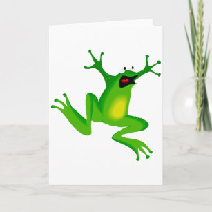 Funny green frog cards greeting cards more zazzle ca funny green frog greeting cards m4hsunfo