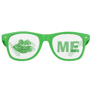 Funny Green Kiss Me Irish St. Patrick's Day Retro Sunglasses