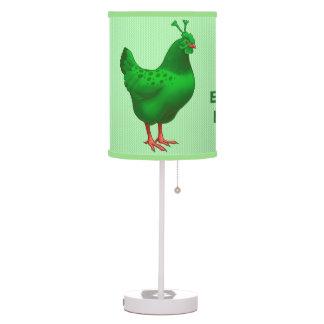 Funny Green Martian Alien Chicken Table Lamp