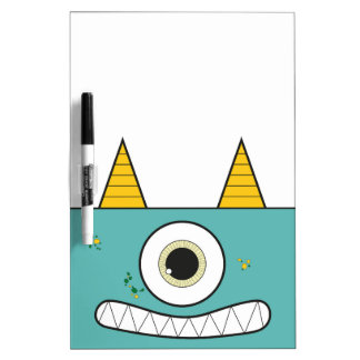 Funny Green Monster Erase Board