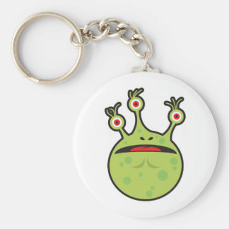 funny green monster key chain