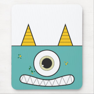 Funny Green Monster Mouse Pad