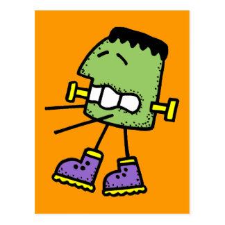 Funny green monster postcard