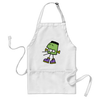 Funny green monster standard apron