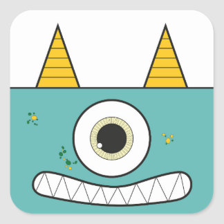 Funny Green Monster Stickers