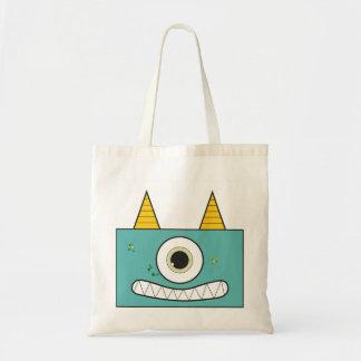Funny Green Monster Tote Bag