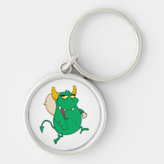 funny green monster with sac keychains