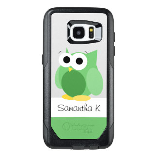 Funny Green Owl Personalize Samsung Galaxy S7 Edge