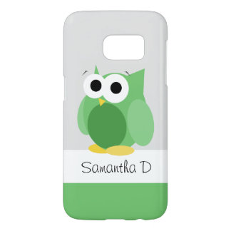 Funny Green Owl - Personalized Samsung Galaxy S7 Samsung Galaxy S7 Case