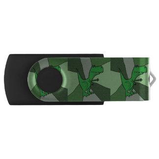 Funny Green T-rex Dinosaur USB Drive