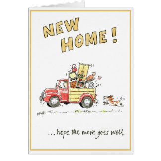 Funny greeting card - new home